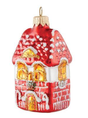 Ёлочное украшение Снежный дом h-11см Карнавал-Премьер. Цвет: темно-красный