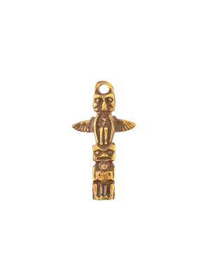 Амулет защитный Индейский Идол Aztek. Цвет: желтый