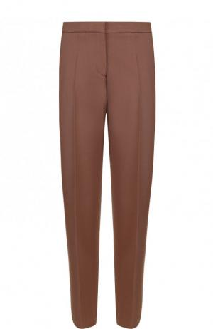 Укороченные шерстяные брюки со стрелками Dries Van Noten. Цвет: коричневый