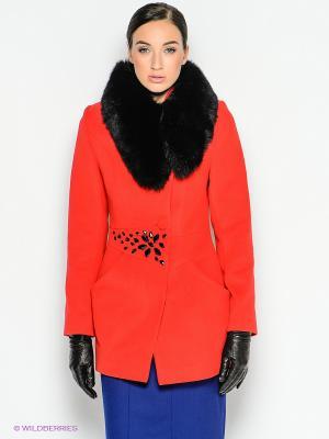 Пальто Malinardi. Цвет: красный