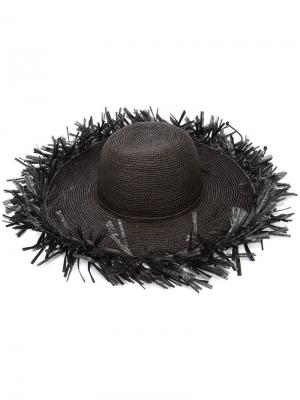 Шляпа Lady Majorca Sensi Studio. Цвет: чёрный