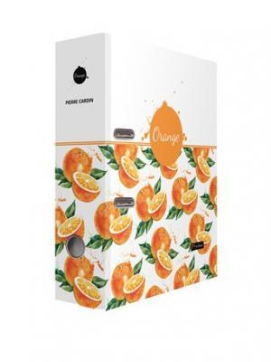 Регистратор Акварель Апельсин ламинированный с дизайном 75мм Pierre Cardin. Цвет: белый, оранжевый