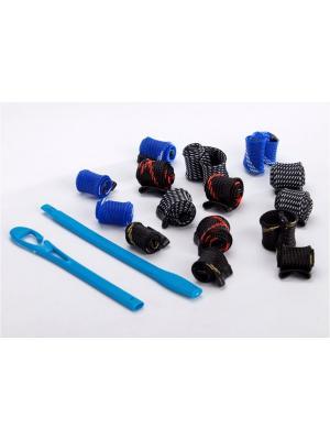 Набор бигуди для волос Завиток RUGES. Цвет: черный, синий