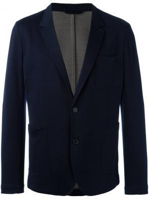 Пиджак с застежкой на 2 пуговицы без подкладки Ami Alexandre Mattiussi. Цвет: синий