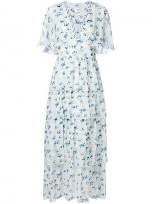 Платье миди Rena Vilshenko. Цвет: белый