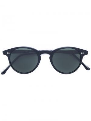 Солнцезащитные очки с круглой оправой Cutler & Gross. Цвет: чёрный