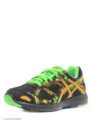 Кроссовки GEL-LIGHTPLAY 3 GS ASICS. Цвет: черный, зеленый, оранжевый