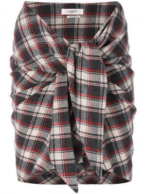Placid knotted mini skirt Isabel Marant Étoile. Цвет: красный
