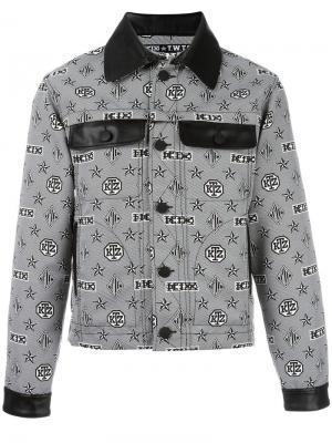 Куртка с узором-монограммой KTZ. Цвет: чёрный