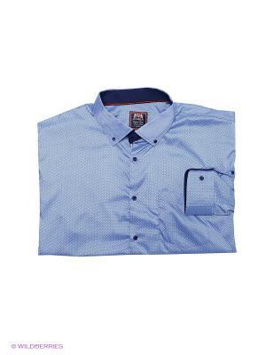 Рубашка OLSER. Цвет: синий