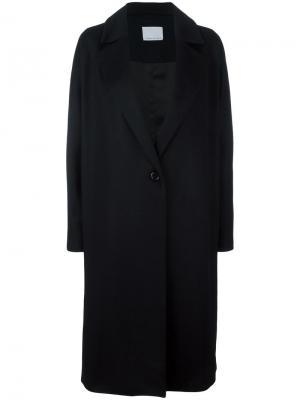 Объемное пальто-кимоно Charlie May. Цвет: чёрный