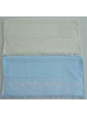 Набор полотенец A and C Collection. Цвет: голубой, молочный