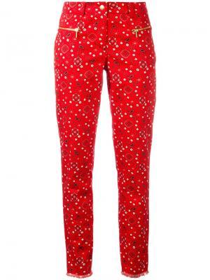 Укороченные брюки с принтом пейсли Michel Klein. Цвет: красный