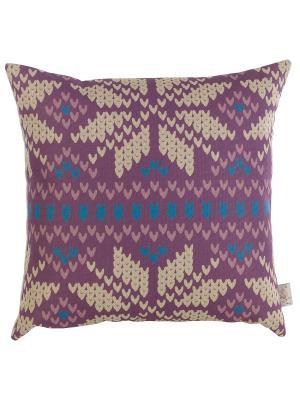 Чехол для декоративной подушки  Зимний спорт Apolena. Цвет: фиолетовый