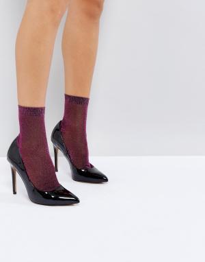 ASOS Розовые блестящие носки. Цвет: фиолетовый