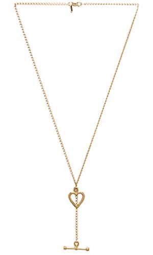 Золотое ожерелье jasmine Vanessa Mooney. Цвет: металлический золотой