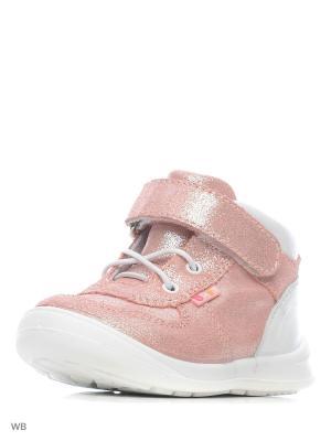 Ботинки San Marko. Цвет: розовый, белый