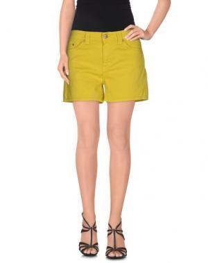 Джинсовые шорты DONDUP. Цвет: желтый