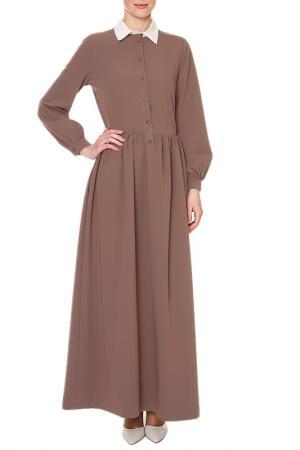 Платье макси SWEETME TM. Цвет: коричневый