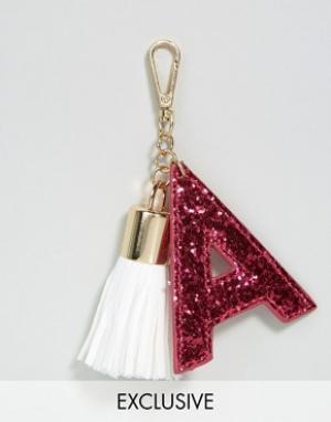 Skinnydip Брелок для ключей с буквой A. Цвет: мульти