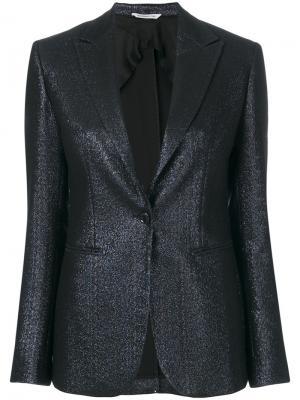 Приталенный пиджак металлик Tonello. Цвет: чёрный