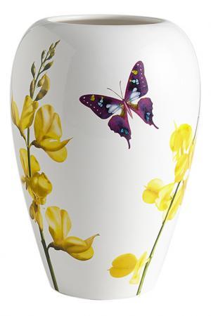 Ваза для цветов 26 см Лето Ceramiche Viva. Цвет: мультицвет