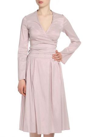 Костюм: блуза, юбка Adzhedo. Цвет: грязный розовый, полоса