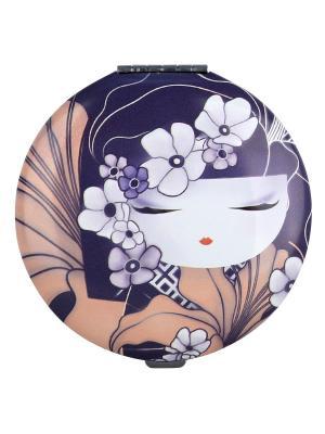 Карманное зеркало Чизуру Kimmidoll. Цвет: темно-фиолетовый