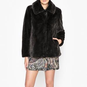 Пальто короткое с меховым эффектом SOUNDER OAKWOOD. Цвет: бордовый