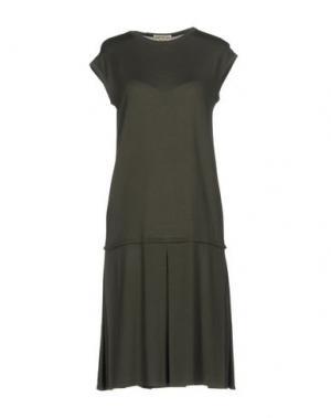 Короткое платье MA'RY'YA. Цвет: зеленый-милитари