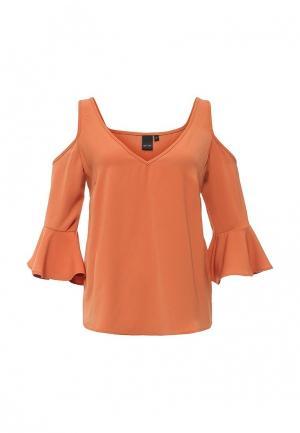 Блуза LOST INK. Цвет: оранжевый