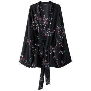 Кимоно с цветочным рисунком MADEMOISELLE R. Цвет: черный/в цветочек