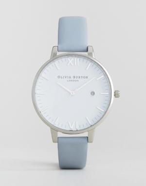 Olivia Burton Часы с пастельно-голубым кожаным ремешком Timeless. Цвет: синий