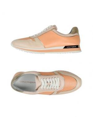 Низкие кеды и кроссовки CARLO PAZOLINI. Цвет: лососево-розовый