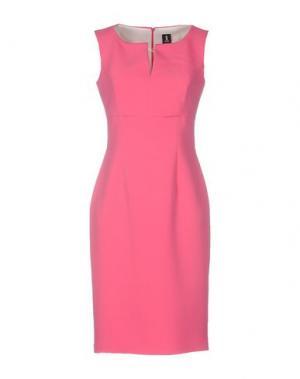 Короткое платье 1-ONE. Цвет: фуксия