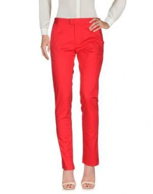 Повседневные брюки BIKKEMBERGS. Цвет: красный