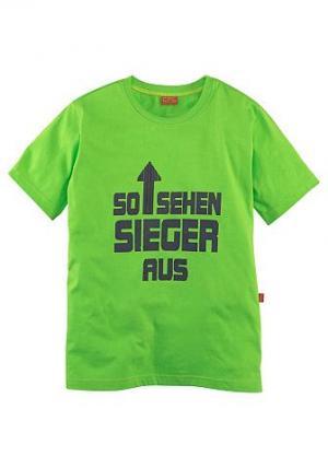 Футболка CFL. Цвет: зеленый