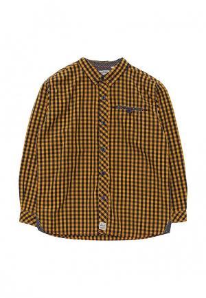 Рубашка E-Bound. Цвет: желтый