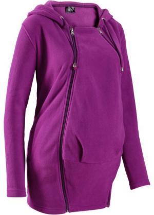 Флисовая куртка для беременных, со вставкой малыша (черный) bonprix. Цвет: черный