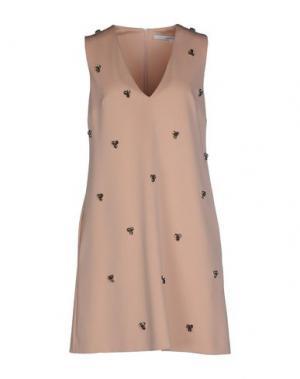 Короткое платье NORMALUISA. Цвет: светло-розовый
