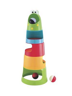 Пирамидка Гонки ELC. Цвет: красный, желтый, зеленый, голубой