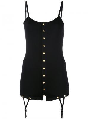 Блузка Teddy Bodysuit Murmur. Цвет: чёрный