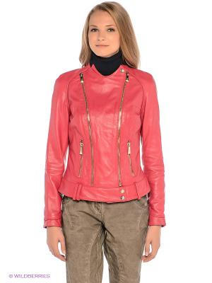 Куртка FIOMIO. Цвет: коралловый