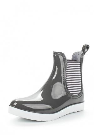 Резиновые ботинки Mon Ami. Цвет: серый