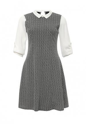 Платье Wallis. Цвет: черно-белый