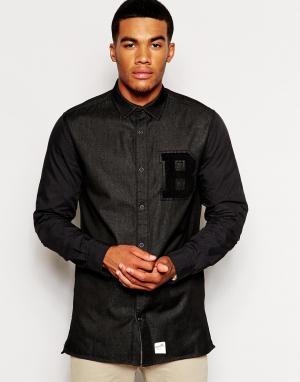 Boxfresh Университетская рубашка Cosham. Цвет: черный