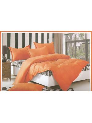КПБ 1,5 сп. La Pastel. Цвет: черный, белый, оранжевый