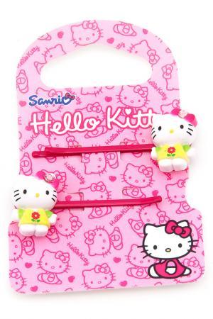 Заколка-невидимка 2 шт Hello Kitty. Цвет: красный