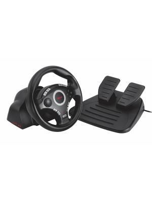 Игровой комплект Trust GXT 27 Force Vibration Steering Wheel (for PS3/2 & PC). Цвет: черный