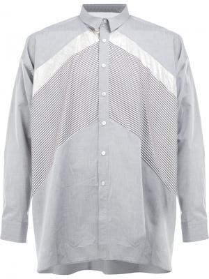 Рубашка с панельным дизайном 08Sircus. Цвет: серый